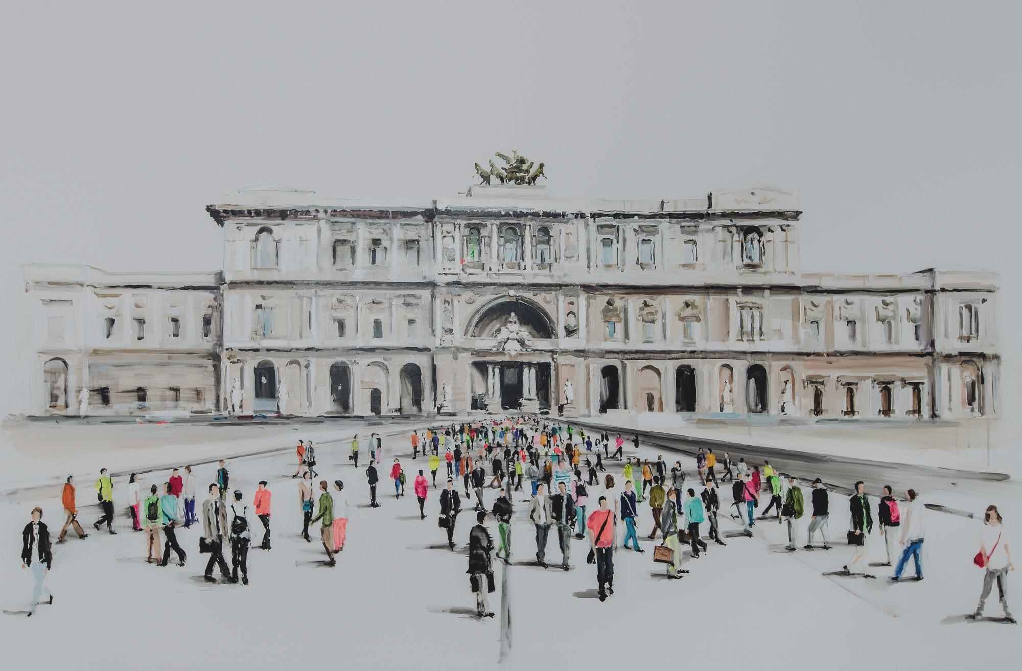 quadro raffigurante la corte di cassazione di roma esposto nello studio legale chiara padovani di milano